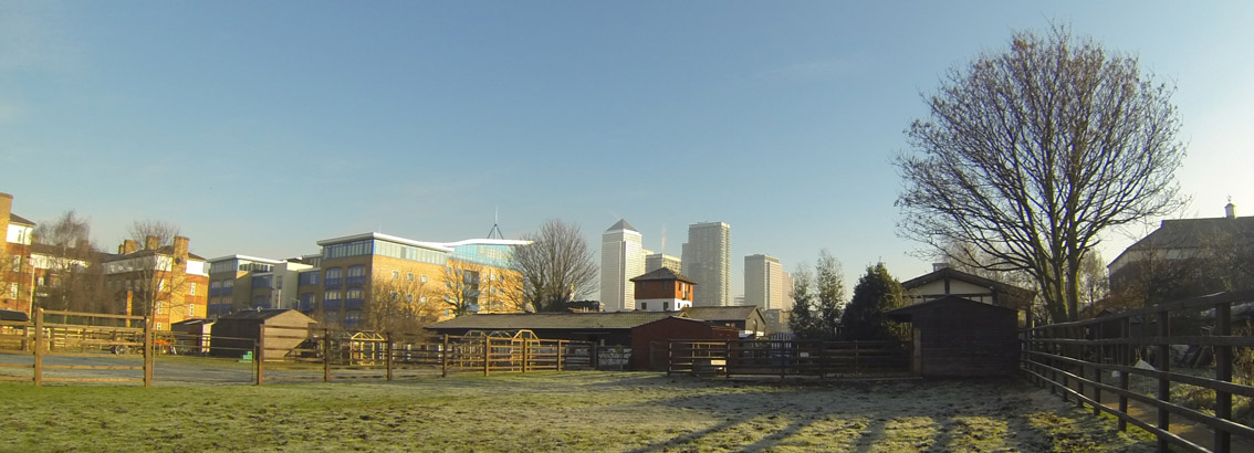 Filming on location at Surrey Docks Farm London
